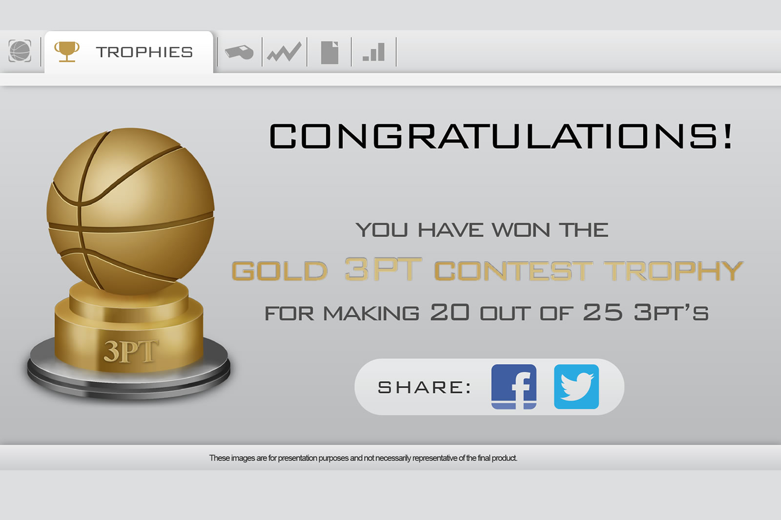 Hoop Tracker Software Trophies